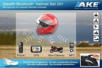 Bluetooth Helmet Set for solo drivers: AKE
